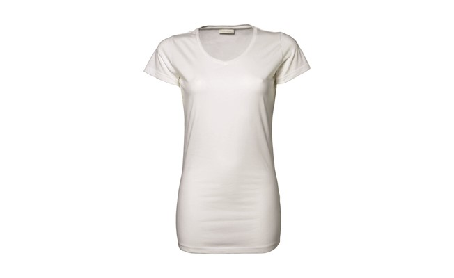 Stretch dames t-shirt - wit