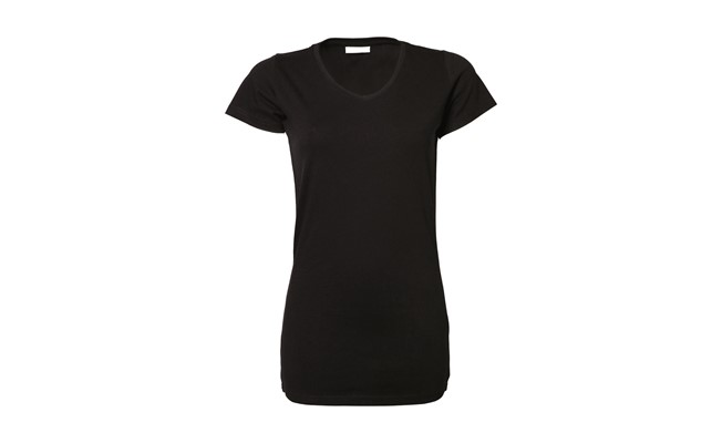 Stretch dames t-shirt - zwart