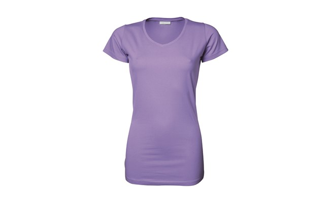 Stretch dames t-shirt - lavendel
