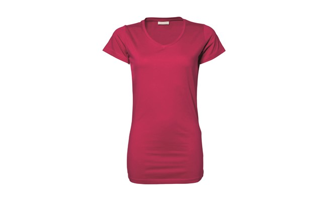 Stretch dames t-shirt - roze