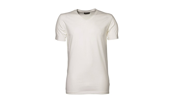 Stretch t-shirt heren - wit