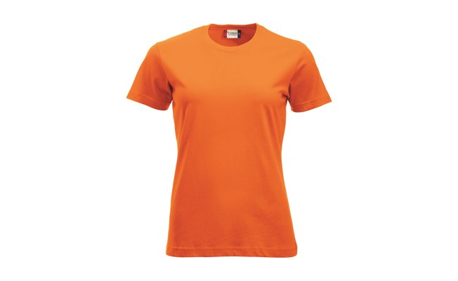 Classic dames t-shirt - safety oranje